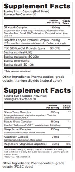 ProZ Supplement Facts